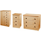 more details on Paisley Kids Wardrobe, Bedside Table and Drawer Set - Beech.