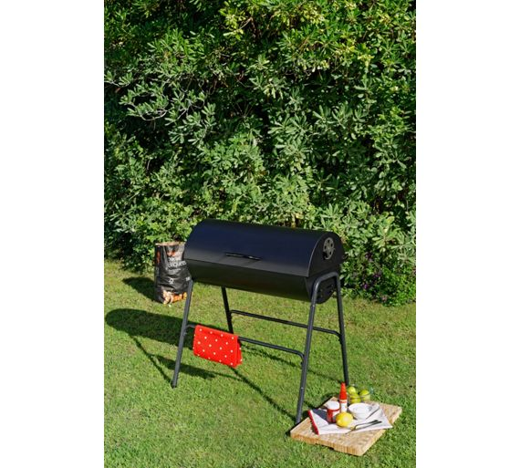 buy charcoal oil drum bbq with lid at your online shop for barbecues barbecues. Black Bedroom Furniture Sets. Home Design Ideas
