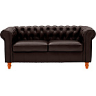 more details on Heart of House Chesterfield Large Leather Sofa - Brown.