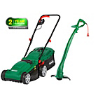more details on Qualcast Corded Rotary 1300W Mower and 320W Grass Trimmer.