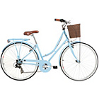 more details on Kingston Hampton 19 Inch Frame Hybrid Bike Blue - Ladies'.