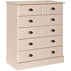 more details on Huntly 4+2 Drawer Chest - Whitewash.