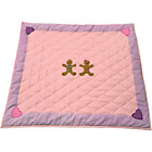 more details on Kiddiewinkles Gingerbread Cotton Floor Quilt - Small.