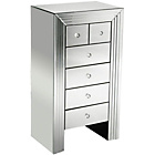 more details on Premier Housewares New Line Mirrored 6 Drawer Chest - White.