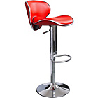 more details on Wilkinson Nigella Leatherette and Chrome Bar Stool - Red.