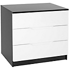 more details on Orient 3 Drawer Chest - White Front.