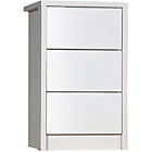 more details on Avola 3 Drawer Assembled Bedside Chest of Drawers - White.