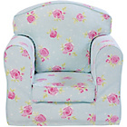more details on Just4Kidz Lanya Rose Print Arm Chair - Blue.