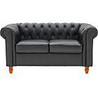 more details on Colletion Chesterfield Regular Leather Sofa - Black.