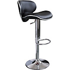 more details on Wilkinson Nigella Leatherette and Chrome Bar Stool - Black.