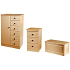 more details on Paisley Kids Wardrobe, Bedside Table and Blanket Box - Beech