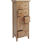 more details on Harvey Oak 10 Drawer Storage Cabinet.