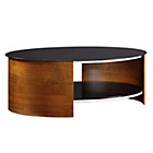 more details on Walnut Effect and Glass Oval Coffee Table.