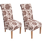 more details on Mia Pair of Dining Chairs - Floral.