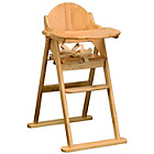 more details on East Coast Nursery All Wood Folding Highchair - Natural.