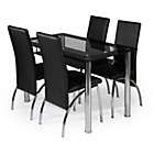 more details on Kingston Glass Dining Set - Black.