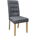 more details on Rimini Pair of Grey Fabric Dining Chairs.