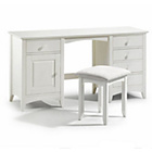 more details on Cameo Twin Pedestal Dressing Table - White.