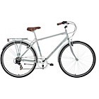 more details on Kingston Hampton 22 Inch Frame Hybrid Bike Grey - Mens'.