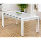more details on Munich High Gloss Dining Table - White.