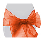more details on Organza Pack of 6 Chair Bows - Orange.