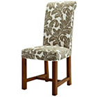 more details on Pacific Terracotta Patterned Floral Chair with Solid Oak Leg