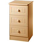 more details on Woodbridge Kids 3 Drawer Bedside Chest - Beech.