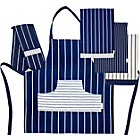 more details on Sabichi Boucherie Tea Towel, Double Oven Glove and Apron Set