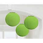 more details on Paper Decorative Pack of 3 Lantern Decorations - Green.