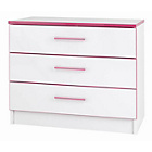 more details on Kiddi 3 Drawers Chest - Pink.
