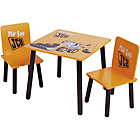 more details on Kidsaw JCB Table and 2 Chairs - Yellow.