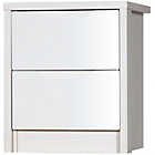 more details on Avola 2 Drawer Assembled Bedside Chest of Drawers - White.