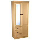 more details on Paisley 2 Door 3 Drawer Combination Wardrobe - Beech.