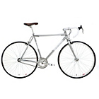 more details on Kingston Hoxton Fixie 56cm Frame Road Bike Silver - Mens'.
