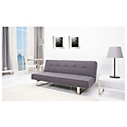 more details on Channing Fabric Clic Clac Sofa Bed - Dark Grey.