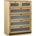 more details on Strada 6 Drawer Chest of Drawers - Grey Gloss Inlay.