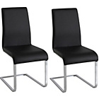more details on Hue Pair of Curved Dining Chairs - Black.