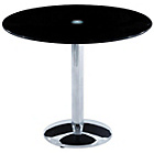more details on Orbit Round Glass Table - Black.