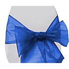 more details on Organza Pack of 6 Chair Bows - Royal Blue.