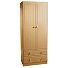 more details on Woodbridge 2 Door 2 Drawer Wardrobe - Beech.