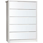 more details on Avola 5 Drawer Chest of Drawers - White.