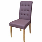more details on Rimini Pair of Plum Fabric Dining Chairs.