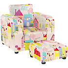 more details on Lara Children's Chair and Footstool Set - Happy Houses.