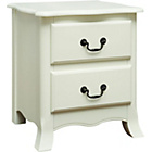 more details on Chantilly 2 Drawer Bedside Chest - White.