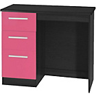 more details on Knightsbridge 3 Drawer Dressing Table - Pink Gloss Finish.