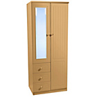 more details on Woodbridge 2 Door 3 Drawer Combination Wardrobe - Beech.