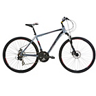 more details on Mizani Zone DD 21 Inch Hybrid Bike Grey - Mens'.