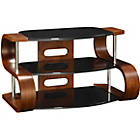 more details on Jual Small Walnut Effect and Black Glass Curved TV Stand.