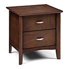 more details on Julian Bowen Minuet 2 Drawer Bedside Table - Dark Wood.