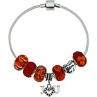 more details on Made Up Sterling Silver Red Beaded Bracelet.